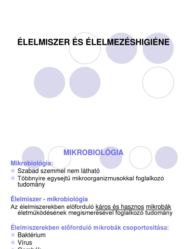élelmiszer baktériumok paraziták